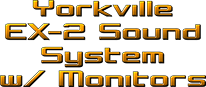Yorkville EX2 Sound System with Monitors